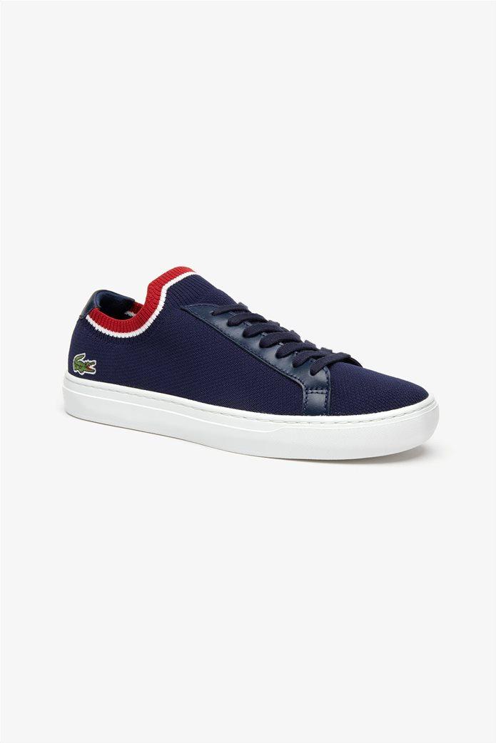 Lacoste ανδρικά υφασμάτινα sneakers  Piquée Μπλε Σκούρο 0