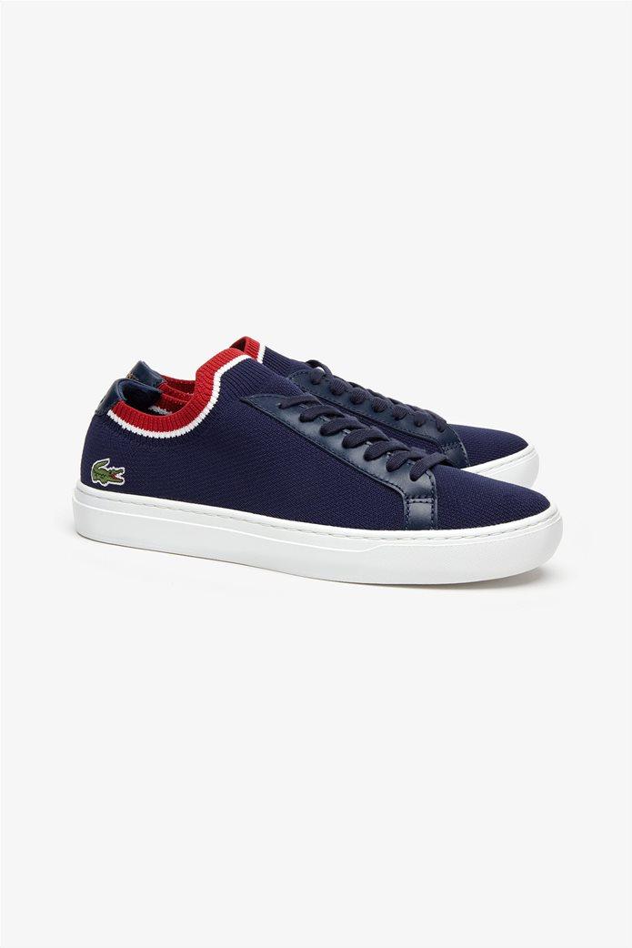 Lacoste ανδρικά υφασμάτινα sneakers  Piquée Μπλε Σκούρο 1