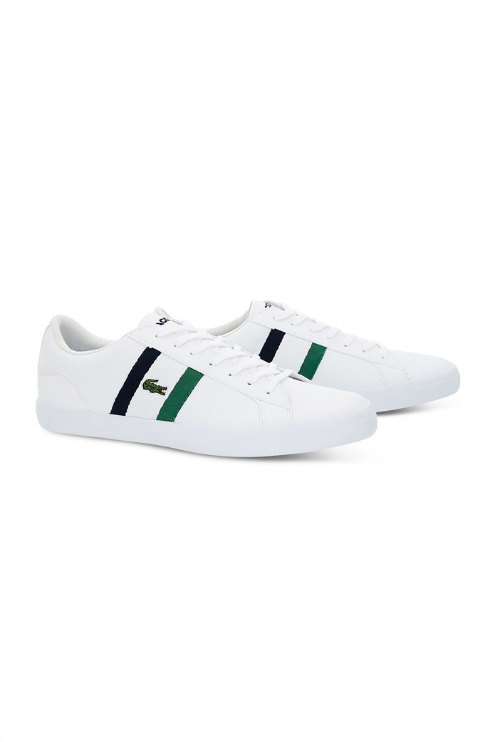 Lacoste ανδρικά sneakers με κορδόνια και ύφασμα Lerond 1