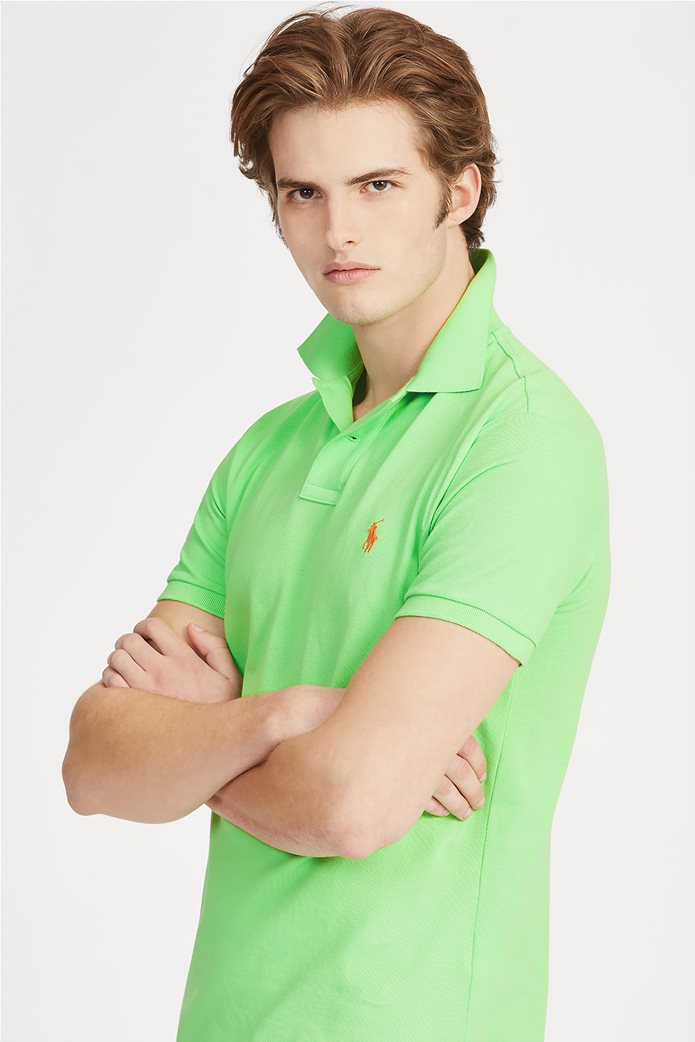 Polo Ralph Lauren ανδρική μπλούζα πόλο Slim Fit Mesh Πράσινο 0