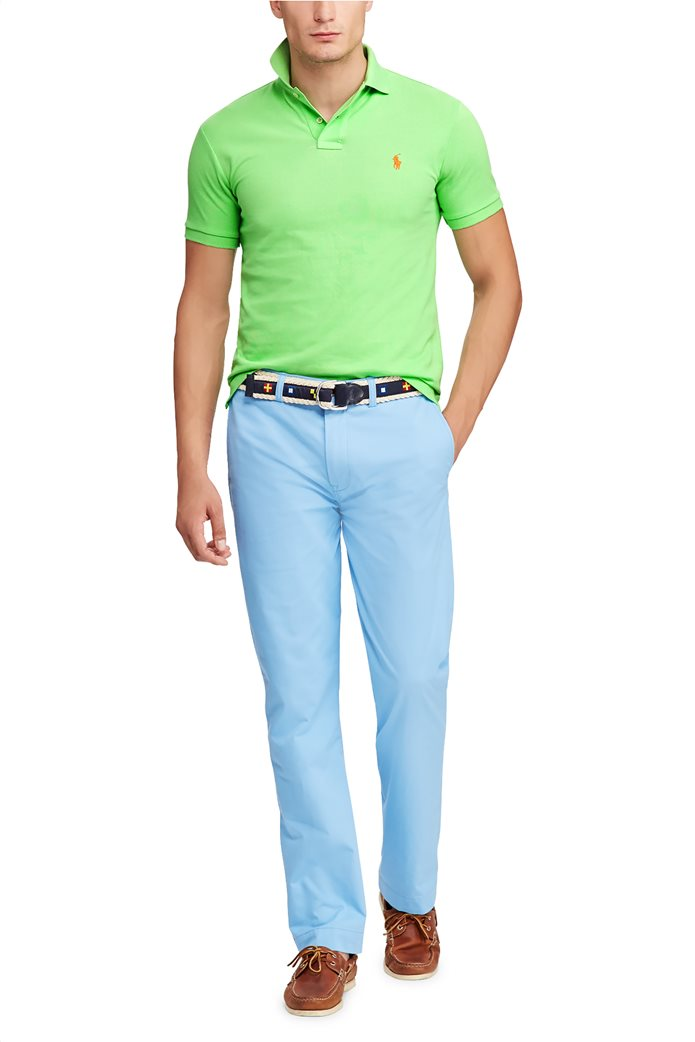 Polo Ralph Lauren ανδρική μπλούζα πόλο Slim Fit Mesh Πράσινο 1