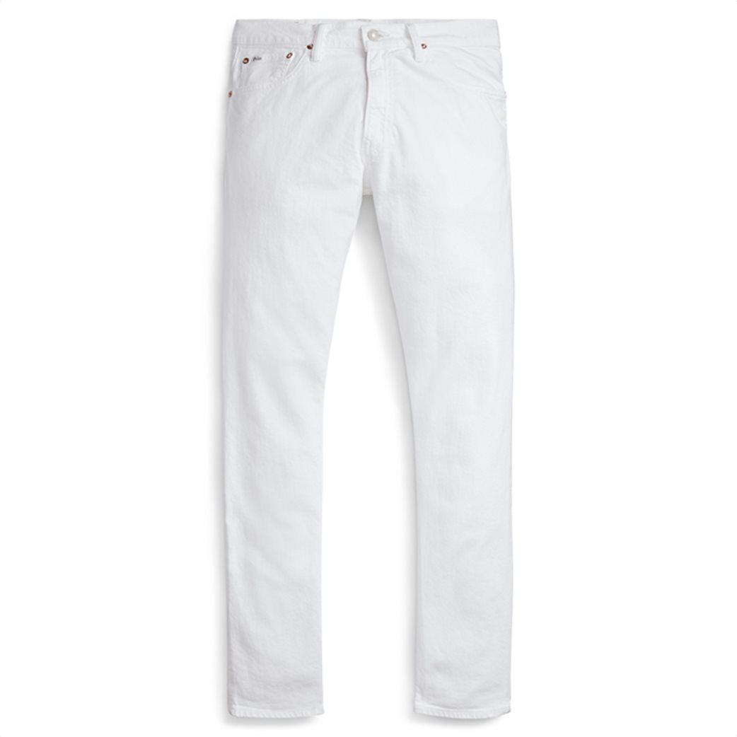 Polo Ralph Lauren ανδρικό τζην παντελόνι λευκό Sullivan Slim Stretch 4