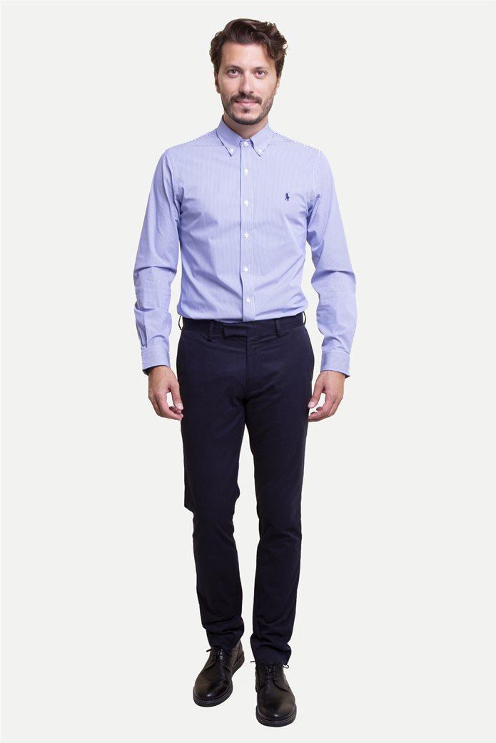 Polo Ralph Lauren ανδρικό παντελόνι μπλε σκούρο Stretch Slim Fit Chino Μπλε Σκούρο 0