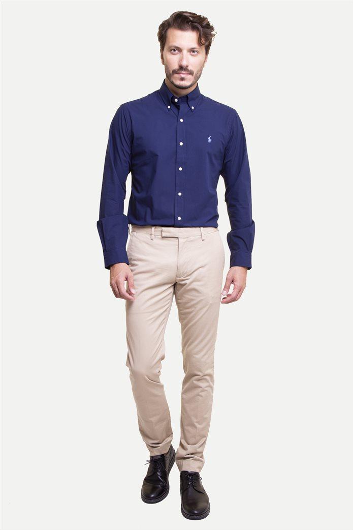 Polo Ralph Lauren ανδρικό παντελόνι μπεζ Stretch Slim Fit Cotton Chino Μπεζ 0