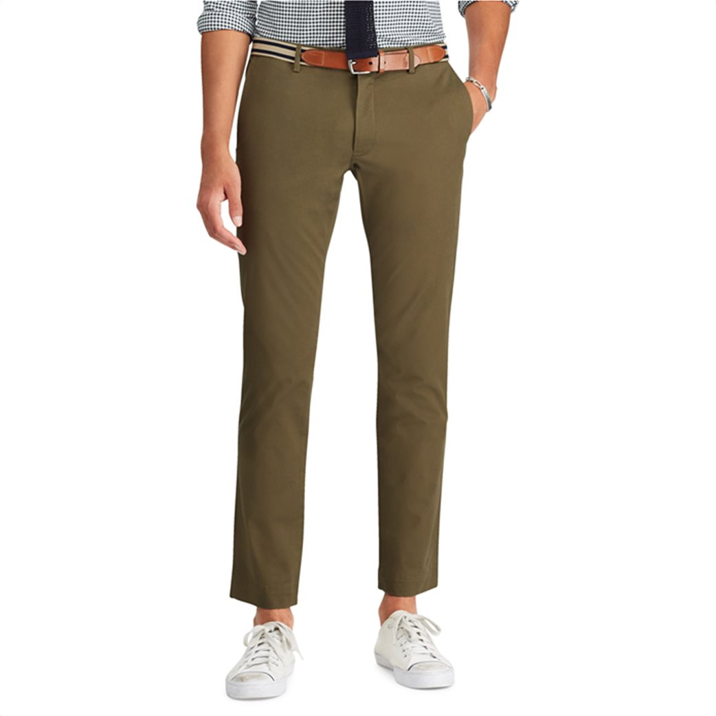Polo Ralph Lauren ανδρικό παντελόνι Slim Fit Chino Λαδί 2