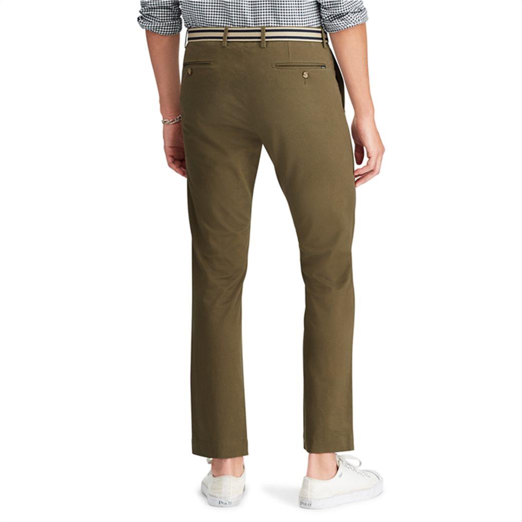 Polo Ralph Lauren ανδρικό παντελόνι Slim Fit Chino Λαδί 3