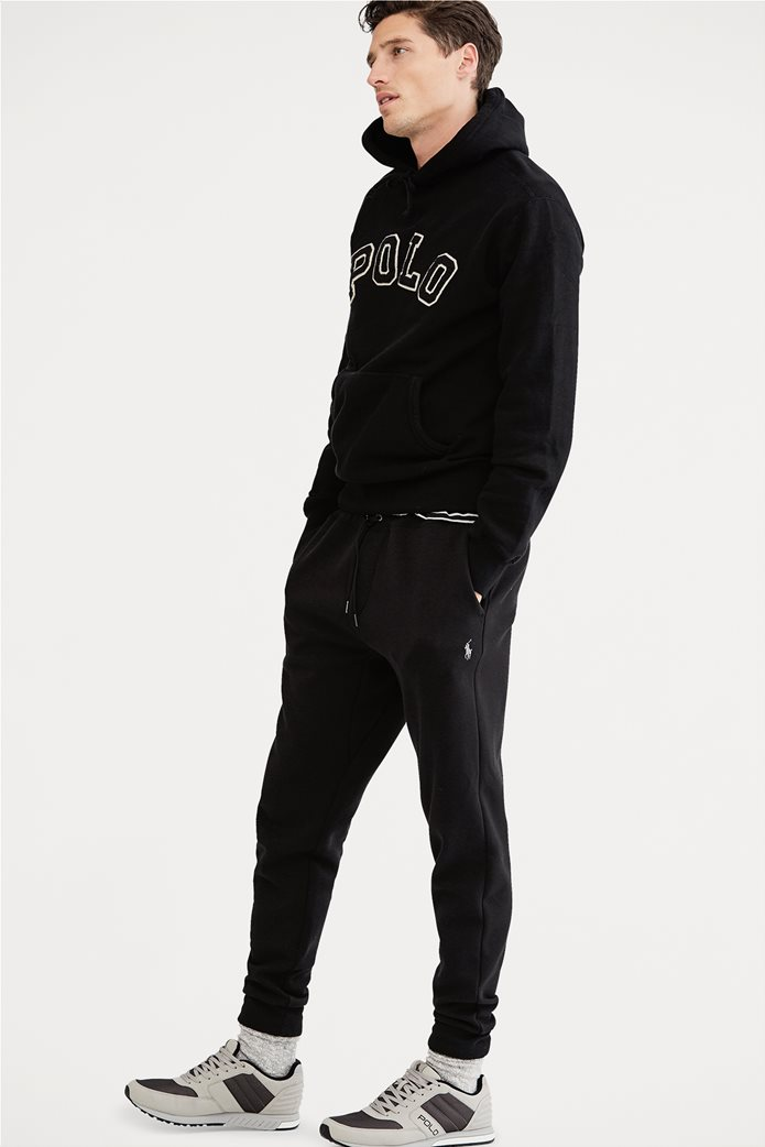 Polo Ralph Lauren ανδρικό μαύρο παντελόνι Double-knitted Jogger Μαύρο 0