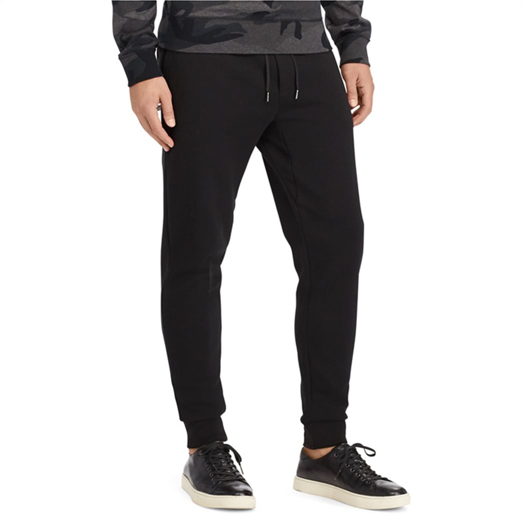 Polo Ralph Lauren ανδρικό μαύρο παντελόνι Double-knitted Jogger Μαύρο 2
