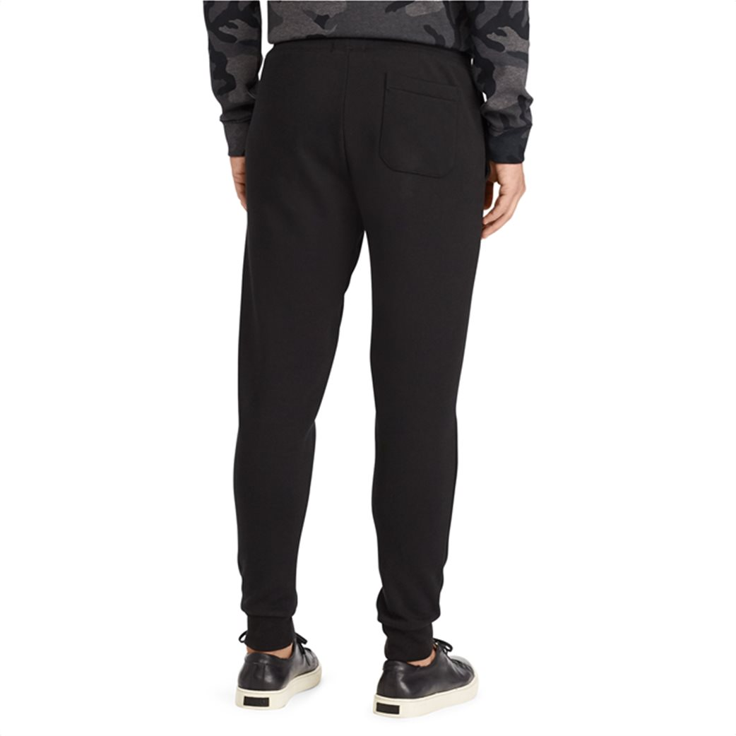 Polo Ralph Lauren ανδρικό μαύρο παντελόνι Double-knitted Jogger Μαύρο 3