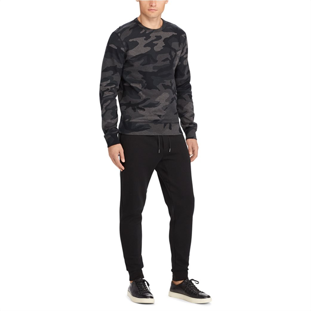 Polo Ralph Lauren ανδρικό μαύρο παντελόνι Double-knitted Jogger Μαύρο 4