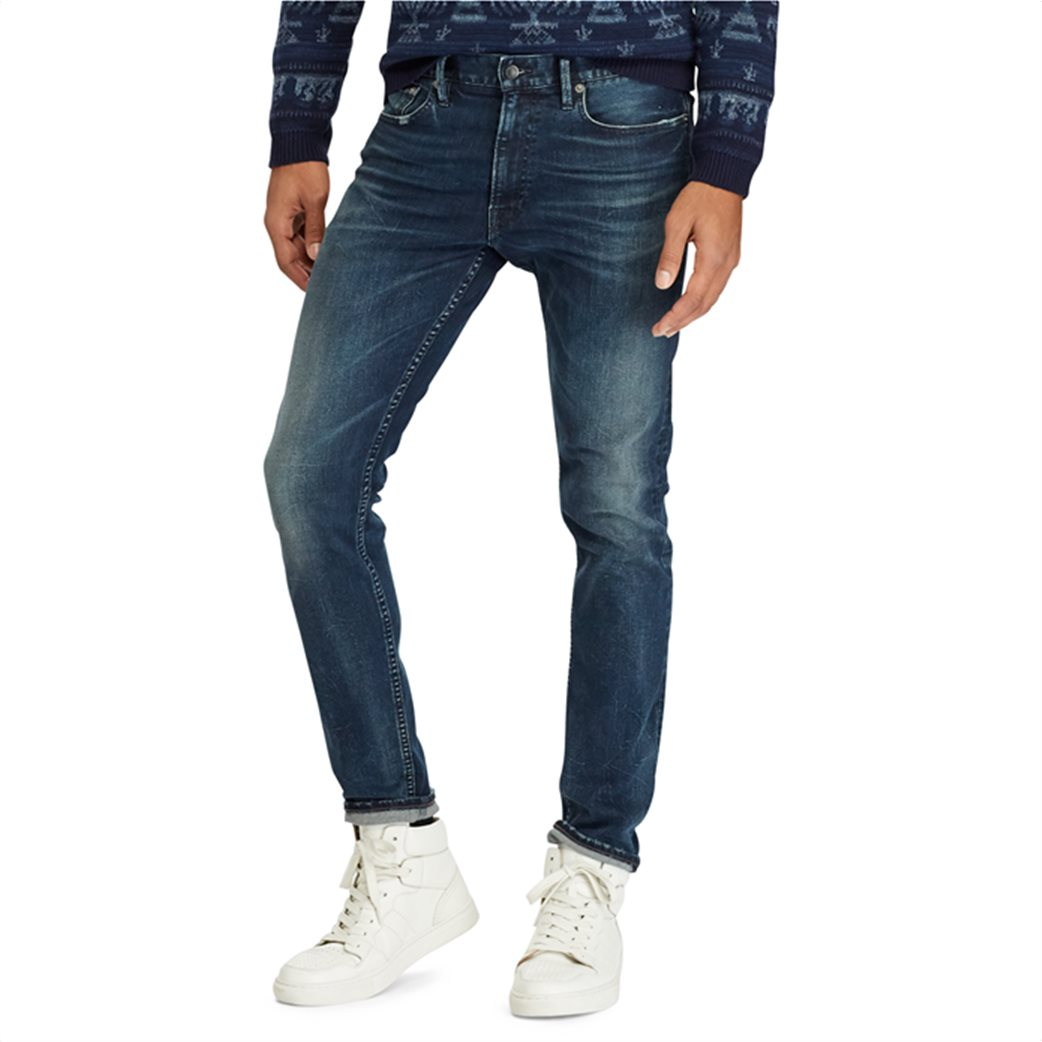 Polo Ralph Lauren ανδρικό τζην παντελόνι μπλε σκούρο Sullivan Slim Performance 2