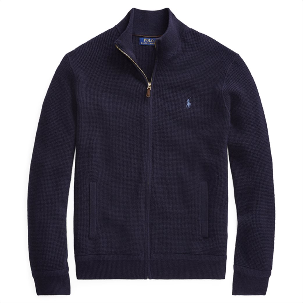 Polo Ralph Lauren ανδρική ζακέτα μπλε σκούρα Merino Wool Full-Zip Μπλε Σκούρο 1