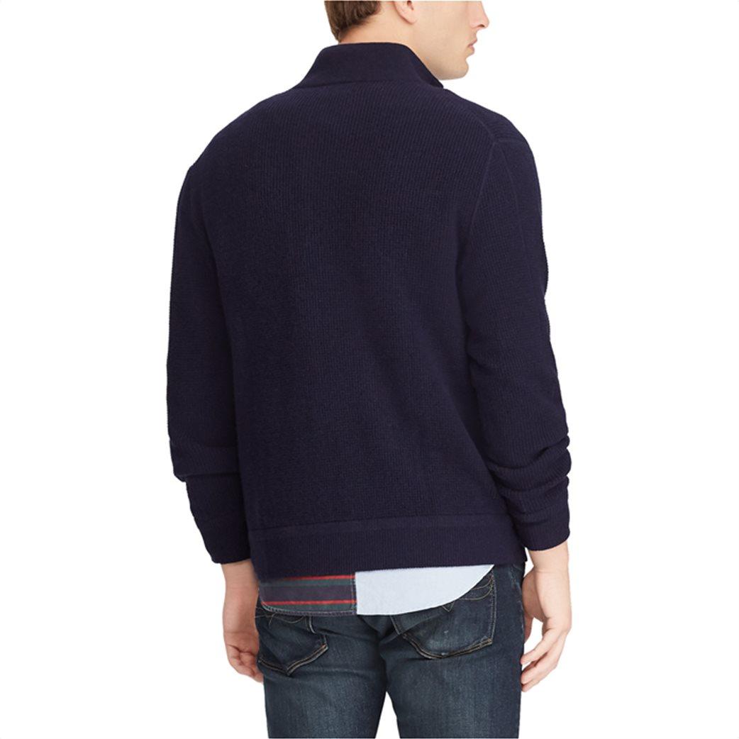 Polo Ralph Lauren ανδρική ζακέτα μπλε σκούρα Merino Wool Full-Zip Μπλε Σκούρο 4