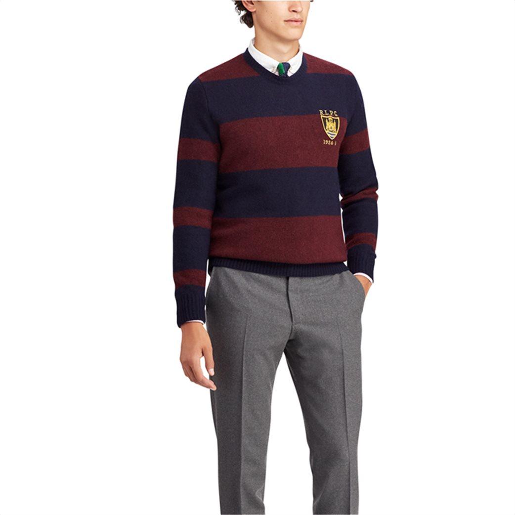 Polo Ralph Lauren ανδρικό πλεκτό Striped Merino Wool Jumper Μπορντό 2