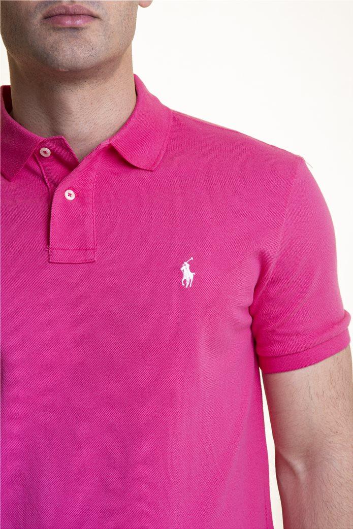 "Polo Ralph Lauren ανδρική polo μπλούζα με κεντημένο logo ""The Iconic Mesh"" 3"