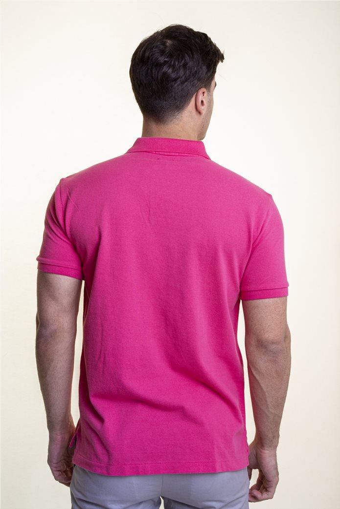 "Polo Ralph Lauren ανδρική polo μπλούζα με κεντημένο logo ""The Iconic Mesh"" 4"
