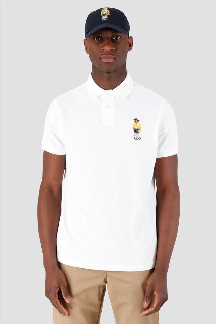Polo Ralph Lauren ανδρική polo μπλούζα κοντομάνικη με κεντημένο polo bear 0