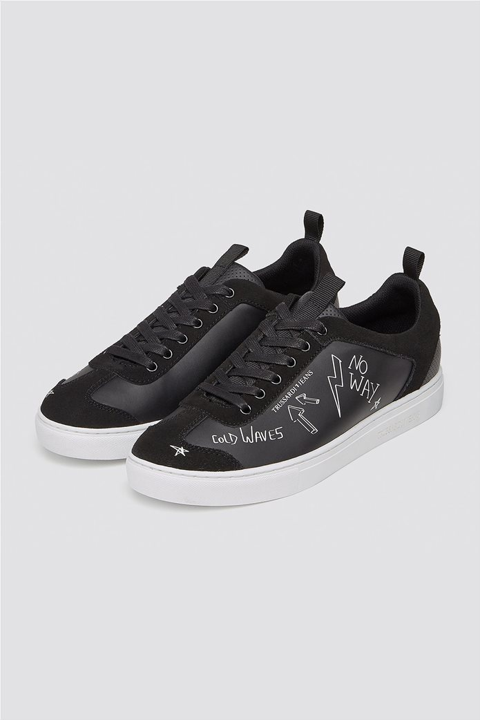 Trussardi Jeans ανδρικά sneakers με letter print 1