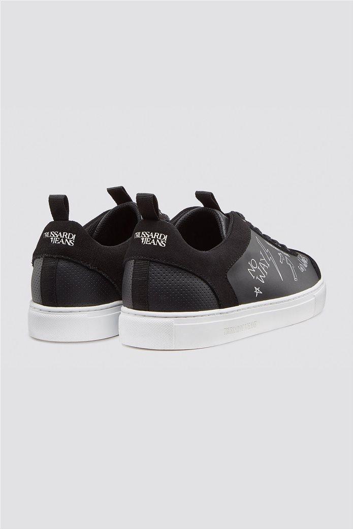 Trussardi Jeans ανδρικά sneakers με letter print 2