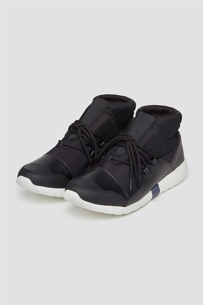Trussardi Jeans ανδρικά μποτάκια sneakers High top running 1