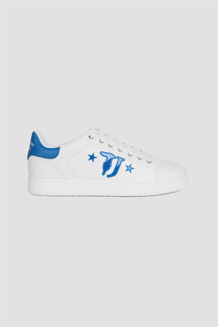 Trussardi ανδρικά sneakers με brand logo print στο πλάι 0