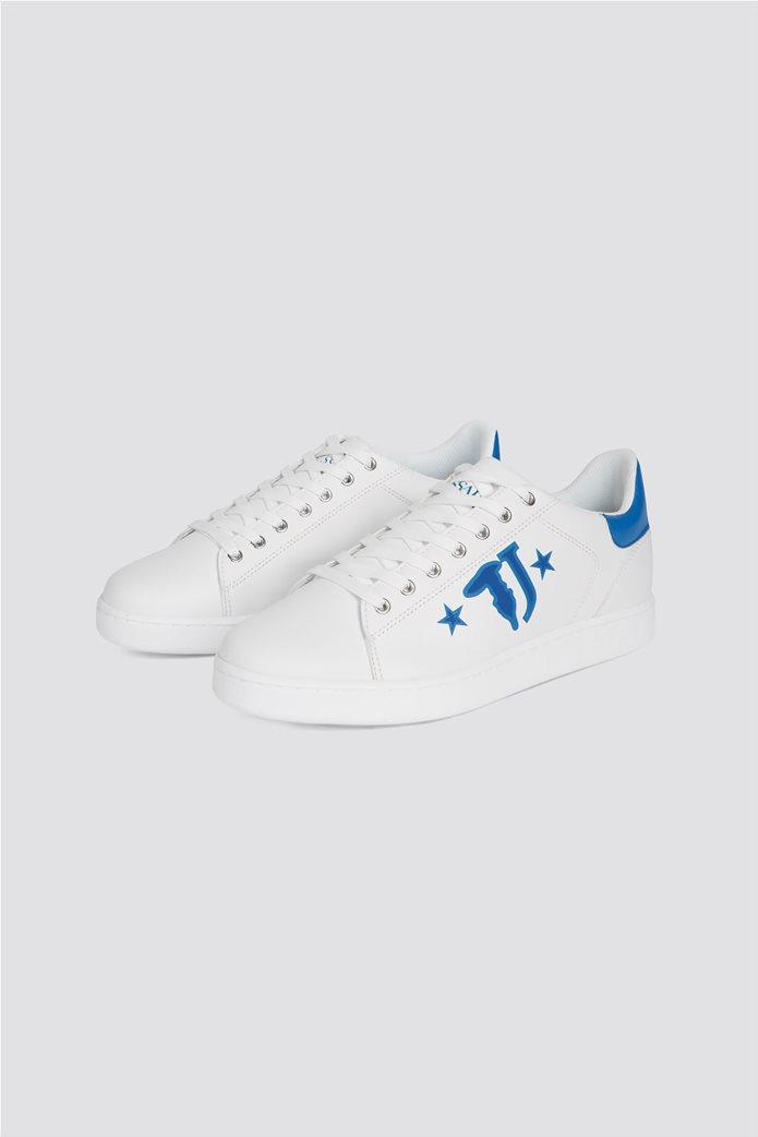 Trussardi ανδρικά sneakers με brand logo print στο πλάι 1