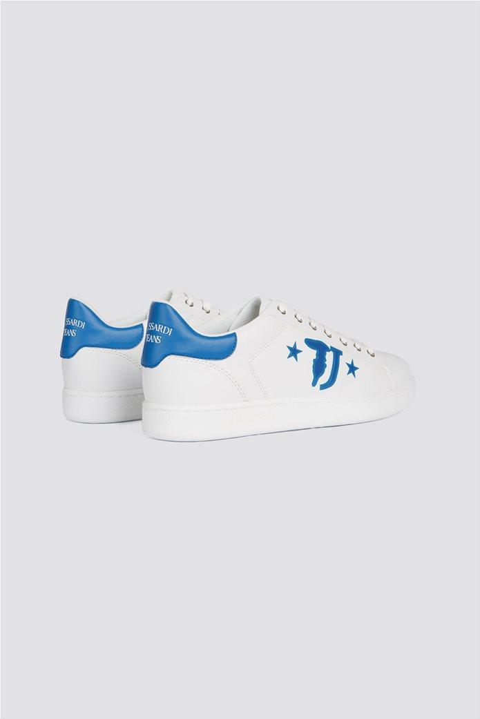 Trussardi ανδρικά sneakers με brand logo print στο πλάι 2