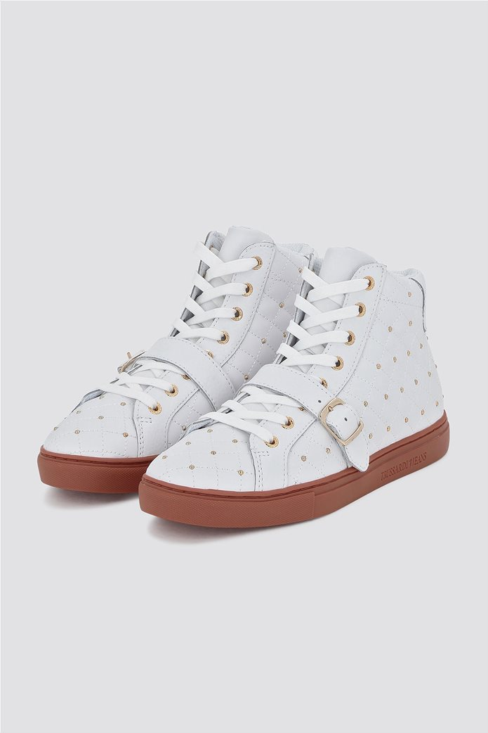 Trussardi Jeans γυναικεία μποτάκια sneakers με τρούκς 1
