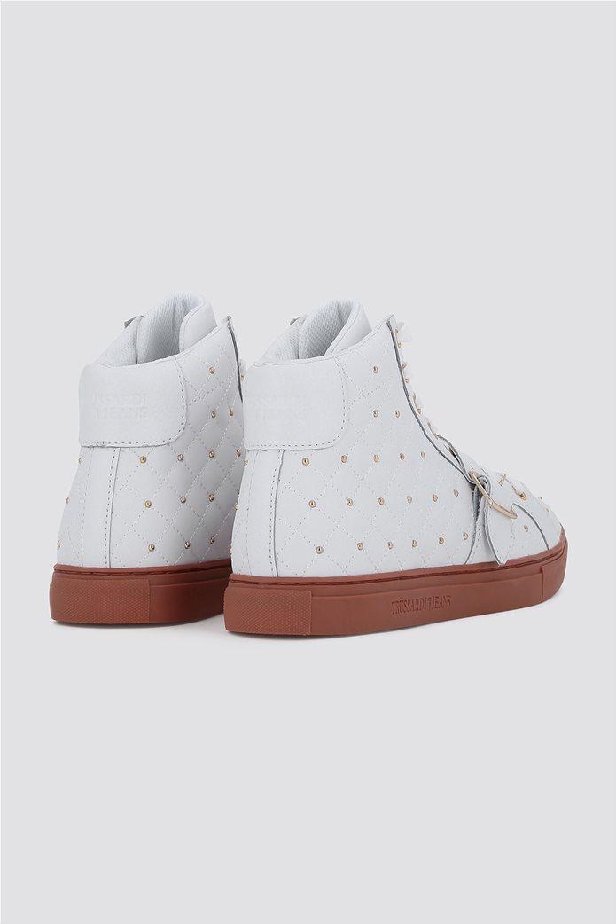 Trussardi Jeans γυναικεία μποτάκια sneakers με τρούκς 2