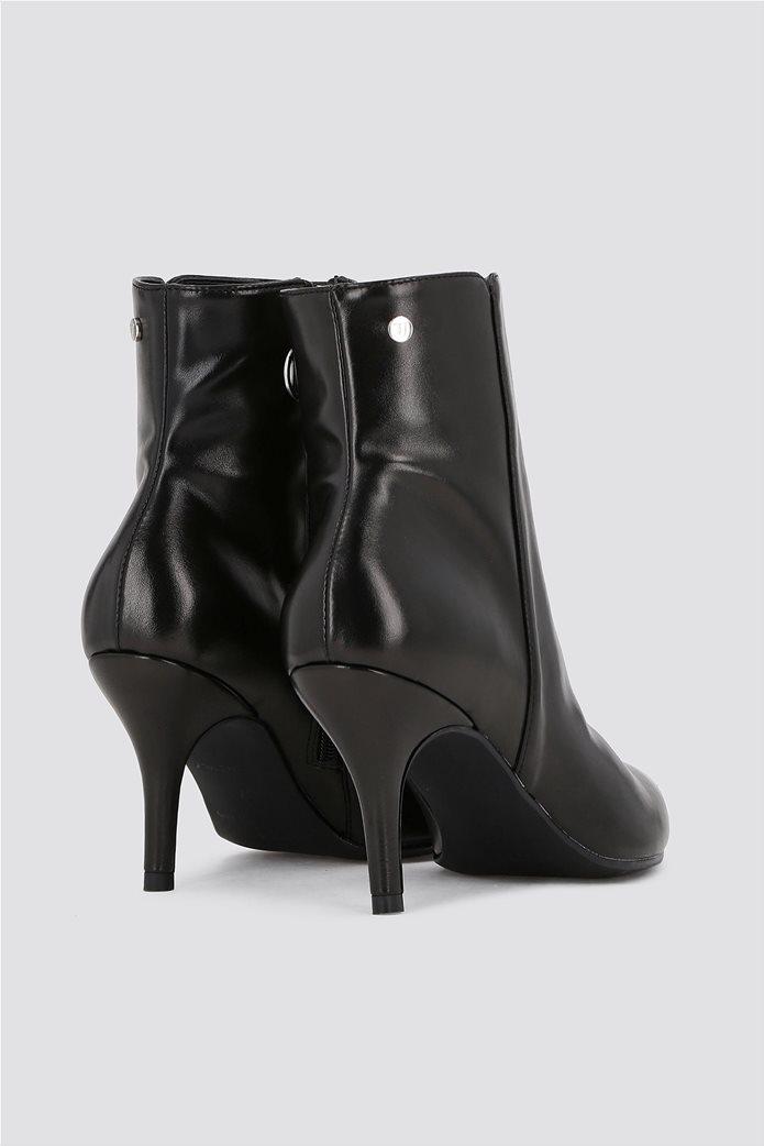Trussardi Jeans γυναικείo δερμάτινo μποτάκι Μid height heel 1