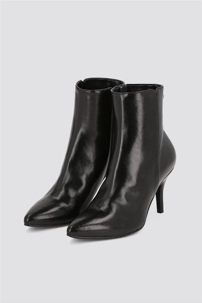 Trussardi Jeans γυναικείo δερμάτινo μποτάκι Μid height heel 2