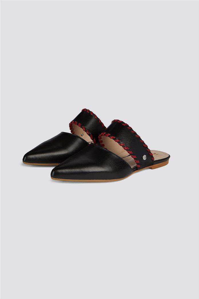 Trussardi Jeans γυναικεία παπούτσια flat mules 1
