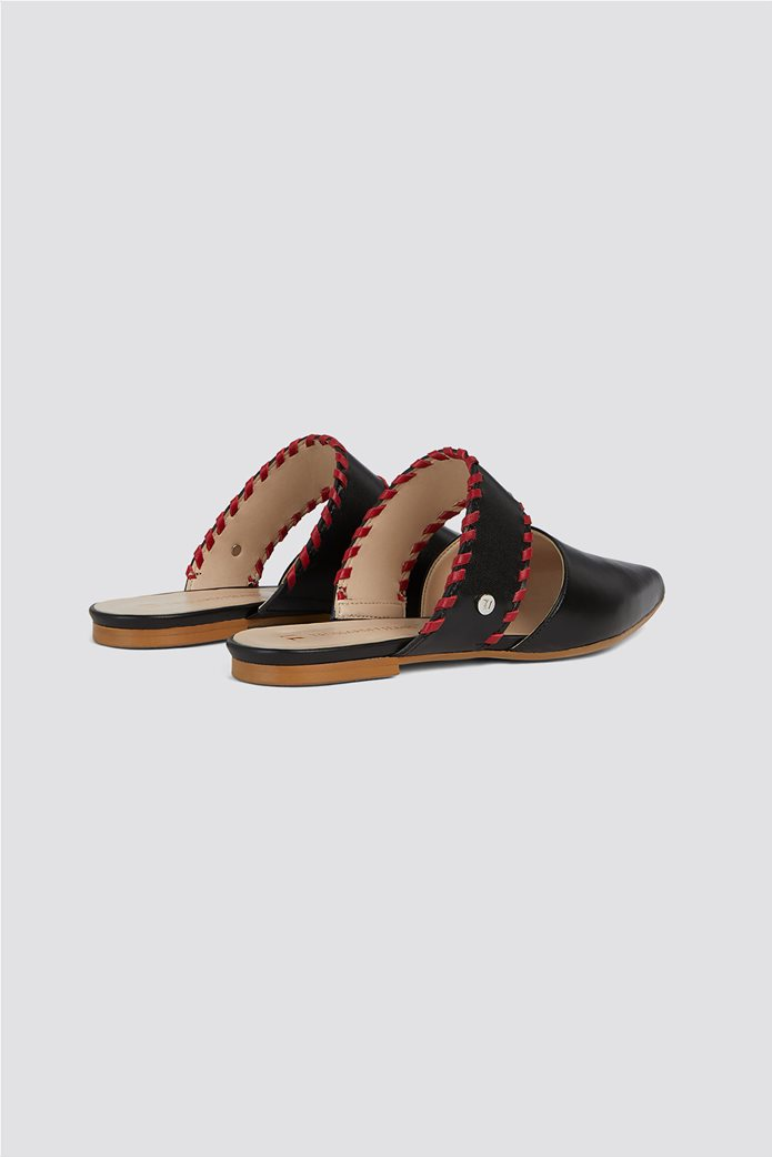 Trussardi Jeans γυναικεία παπούτσια flat mules 2
