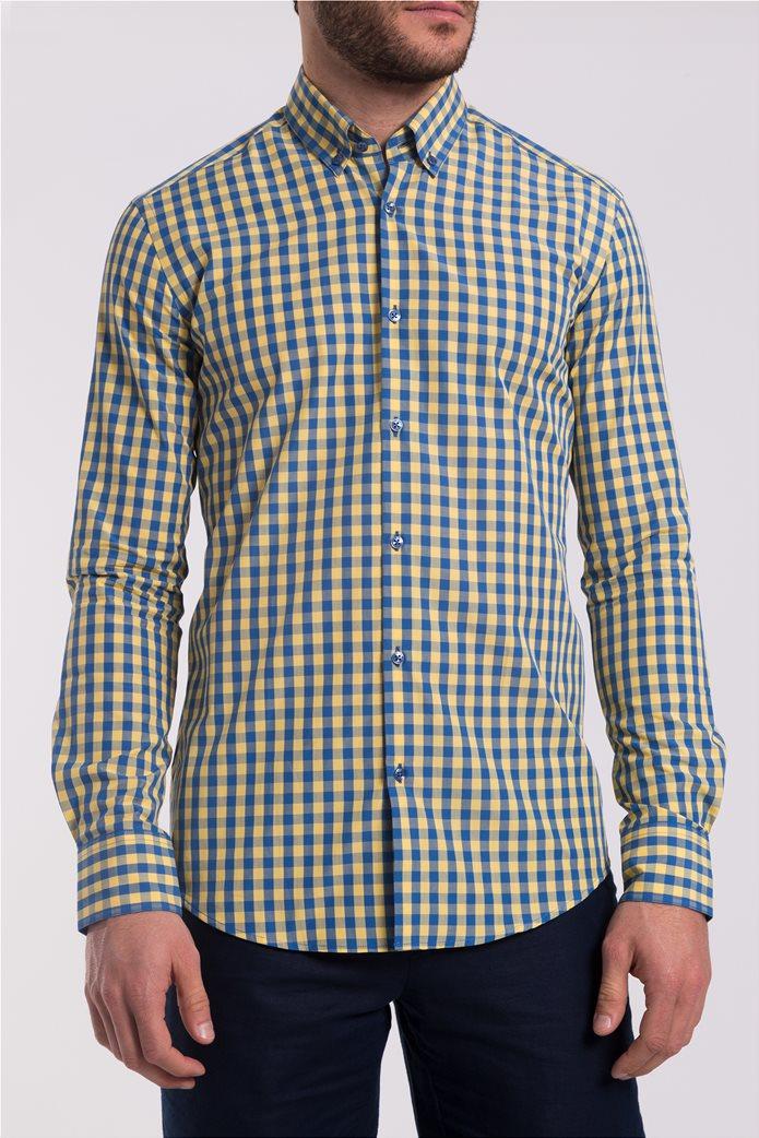 Ανδρικό καρό πουκάμισο The Bostonians 0