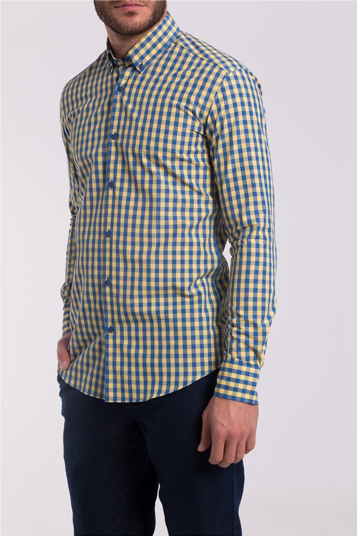 Ανδρικό καρό πουκάμισο The Bostonians 3