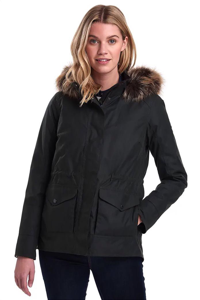 """Barbour γυναικείο  μπουφάν με κουκούλα με γούνα """"Scallop"""" 0"""