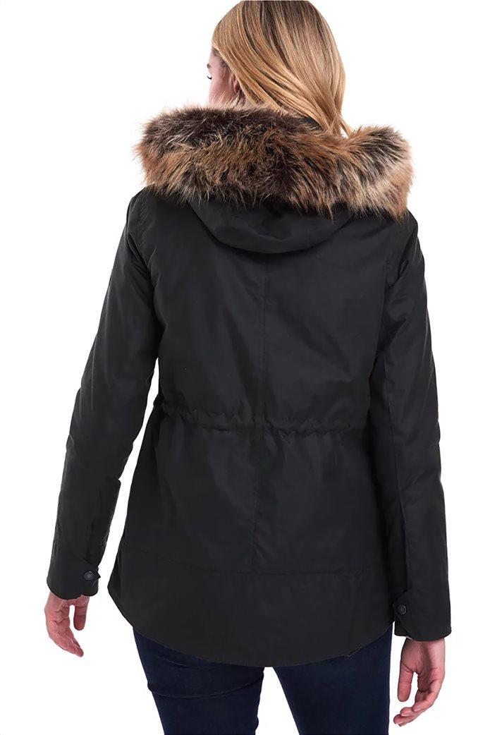 """Barbour γυναικείο  μπουφάν με κουκούλα με γούνα """"Scallop"""" 1"""