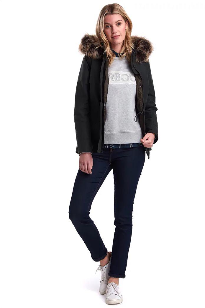 """Barbour γυναικείο  μπουφάν με κουκούλα με γούνα """"Scallop"""" 2"""