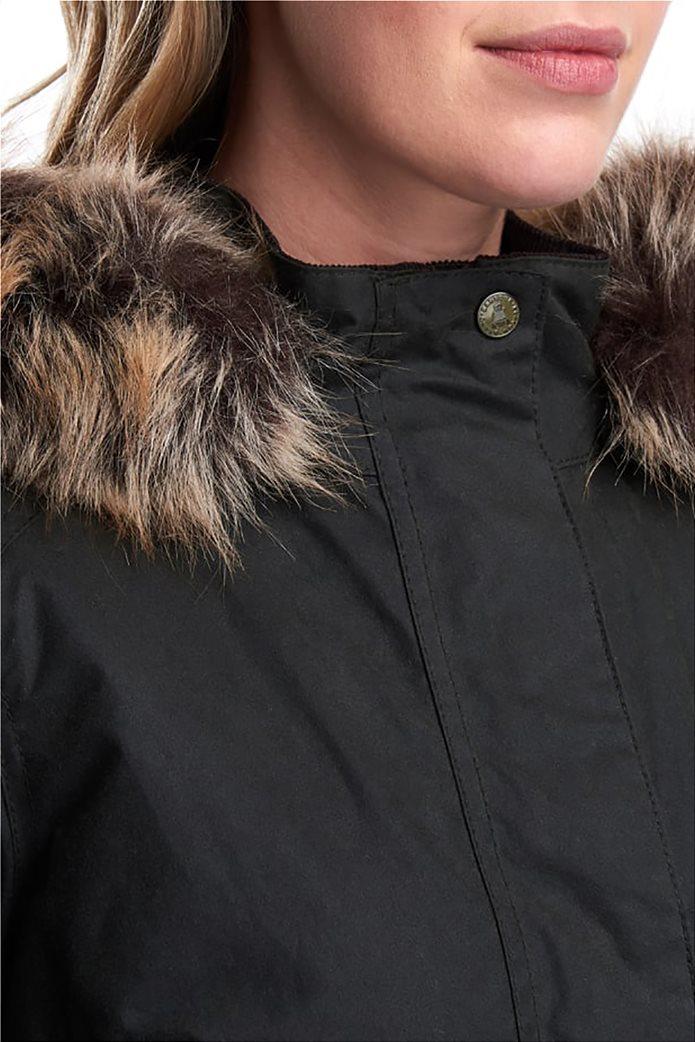 """Barbour γυναικείο  μπουφάν με κουκούλα με γούνα """"Scallop"""" 3"""