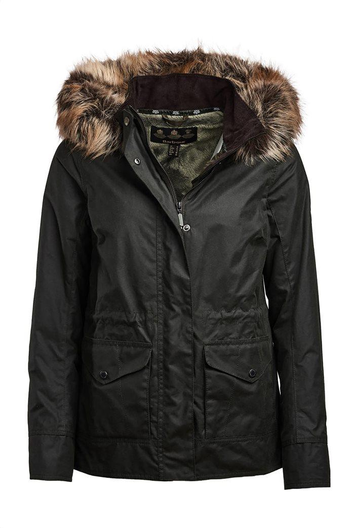 """Barbour γυναικείο  μπουφάν με κουκούλα με γούνα """"Scallop"""" 4"""