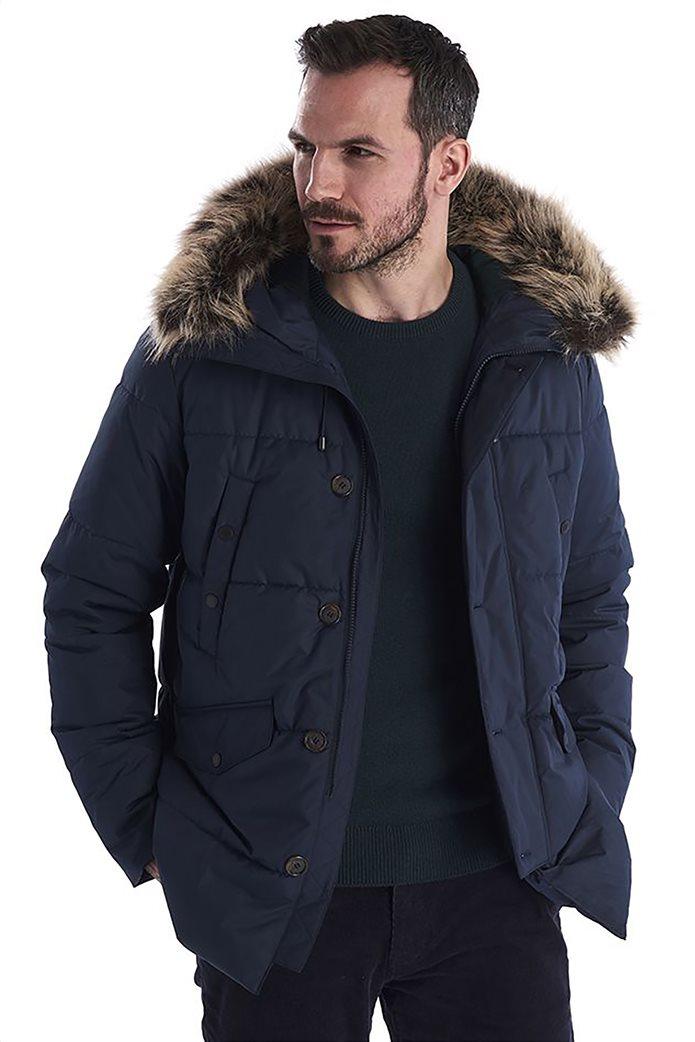 "Barbour ανδρικό μπουφάν καπιτονέ με κουκούλα με γούνα ""Fenny"" 0"