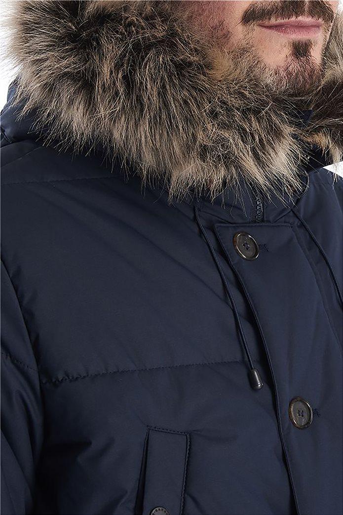 "Barbour ανδρικό μπουφάν καπιτονέ με κουκούλα με γούνα ""Fenny"" 2"