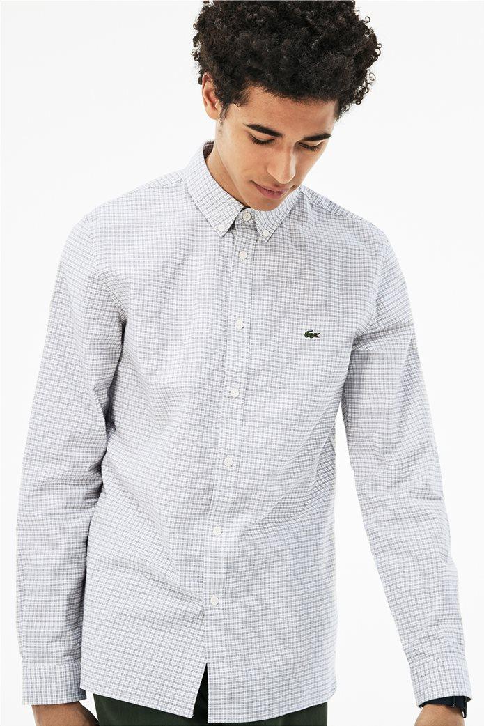 Lacoste ανδρικό πουκάμισο με καρό μικροσχέδιο The 4 Essential Shirts of the Season 0