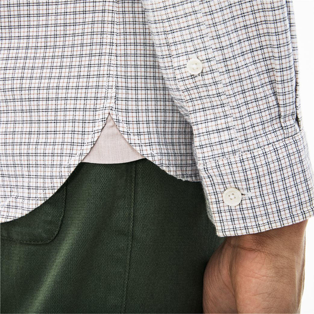 Lacoste ανδρικό πουκάμισο με καρό μικροσχέδιο The 4 Essential Shirts of the Season 3