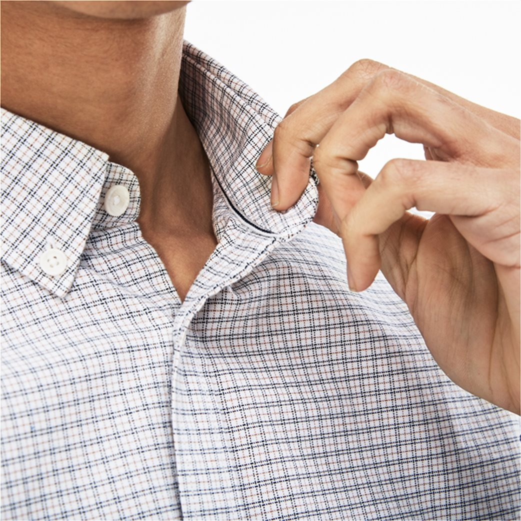 Lacoste ανδρικό πουκάμισο με καρό μικροσχέδιο The 4 Essential Shirts of the Season 6