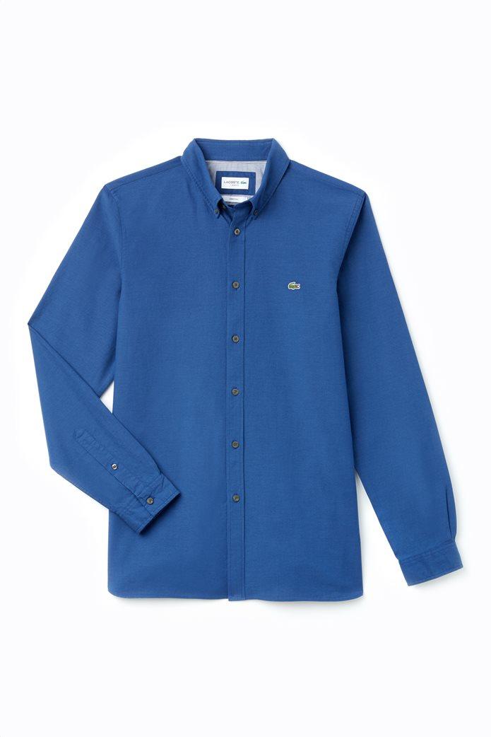 7eb61aa67ce Lacoste ανδρικό πουκάμισο μονόχρωμο slim fit
