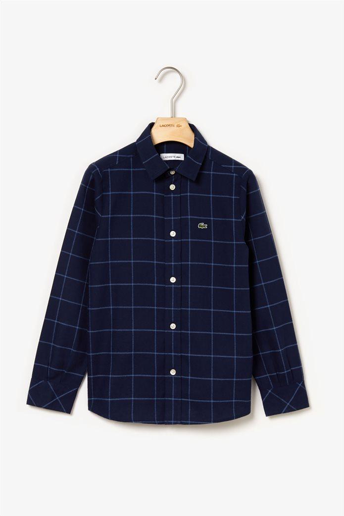Lacoste παιδικό καρό πουκάμισο 0