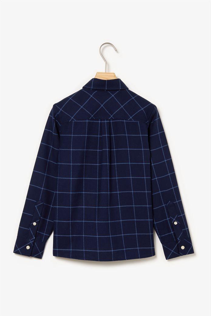Lacoste παιδικό καρό πουκάμισο 1