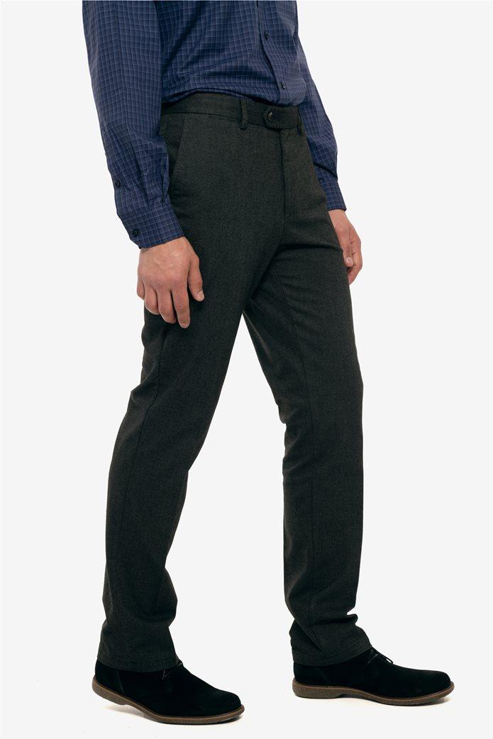 The Bostonians ανδρικό παντελόνι με ανάγλυφη υφή slim fit 0