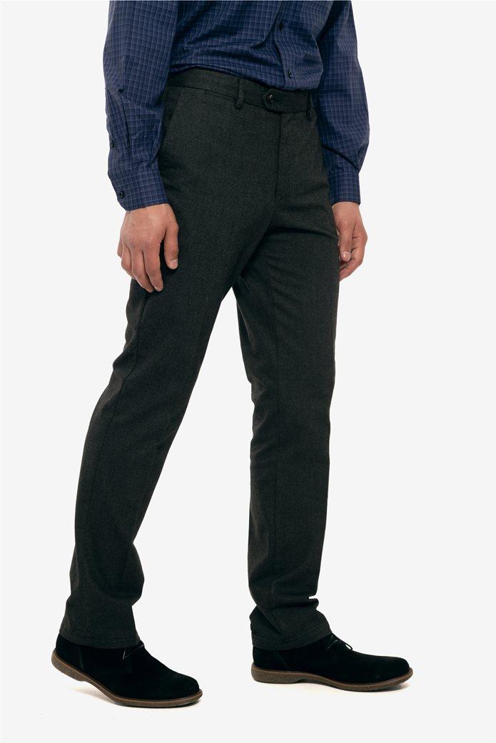 The Bostonians ανδρικό παντελόνι με ανάγλυφη υφή slim fit 2